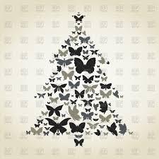 fir tree made of butterflies vector image 80808 u2013 rfclipart