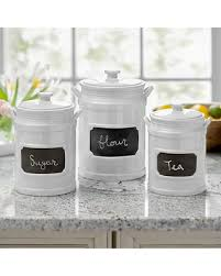 white kitchen canisters shopping deals on white chalkboard kitchen canisters set of 3