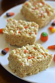 rice crispy treat pumpkins pumpkin spice white chocolate rice krispie treats gluten free