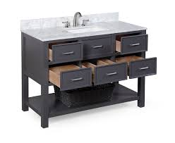 24 Inch Vanity Combo New Hampshire 48 Inch Bathroom Vanity Carrara Charcoal Gray