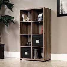 Oak Room Divider Shelves Sauder Transit Collection Cube Style Bookcase Room Divider Salted