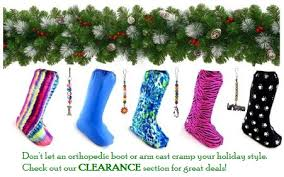 don u0027t let an orthopedic boot leg or arm cast cramp your holiday