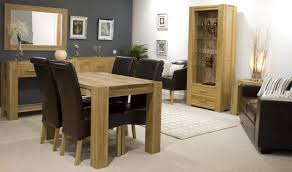 Dining Tables  Solid Wood Dining Table Sets Country Style Kitchen - Oak dining room sets with hutch