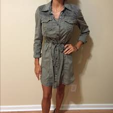 78 off guess dresses u0026 skirts guess military green button up