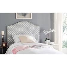 Safavieh Furniture Outlet Store Safavieh Connie Grey White Camelback Upholstered Headboard