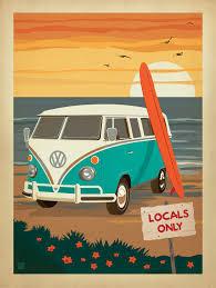 volkswagen bus beach anderson design group studio store vw pinterest group
