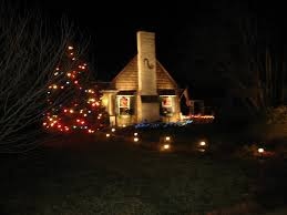 christmas spotlights views from the garden simple christmas decoration ideas for outdoors
