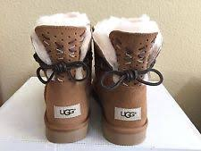 s ugg australia mini bailey bow boots ugg australia mini bailey bow chestnut boots us 8 uk 6 5 e39