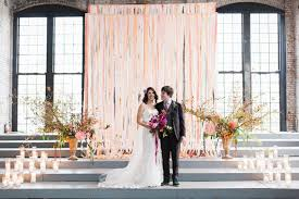 wedding backdrop modern industrial modern hudson valley fall wedding phil