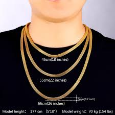 chain necklace sizes images Buy collare mesh chain necklace for men jewelry jpg