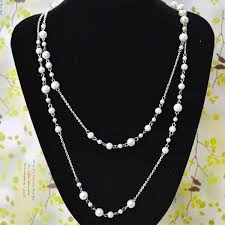 long necklace pearl images Latest pearl necklace design how to make long layered bead jpg