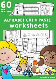 alphabet cut and paste worksheets from the pond