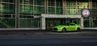 nissan gtr side view green hulk widebody nissan gtr from jotech on hre wheels left side