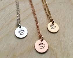 personalized paw print necklace paw print necklace etsy