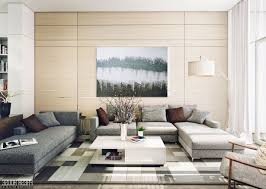 Gray Sofa Decor Modern Living Room Design Ideas White Sofas Walnut Wall Shelves