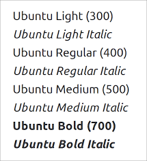 how to set weights and styles with the font face declaration