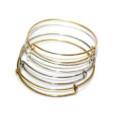 silver plated copper bracelet images Silver gold tone copper expandable wire bangle bracelet for jpg