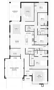 bedroom house plan collection with four floor images