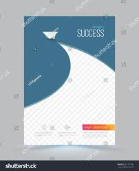 Catalogue Cover Page Design Templates by Cover Page Layout Template Paper Airplane Stock Vector 311167190