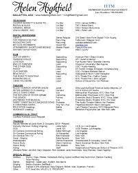 Resume Star Resume 1 Helen Highfield