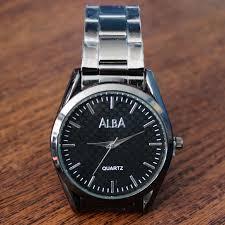 Jam Tangan Alba Pria jual jam tangan pria alba hitam tali rantai metal murah bide
