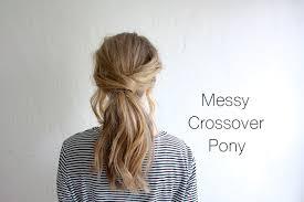 pony hair hair tutorial crossover pony truelane
