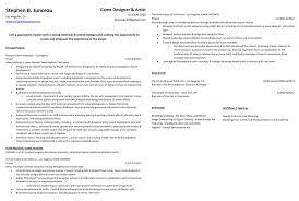 Skill Set Resume Game Design Resume Resume For Your Job Application