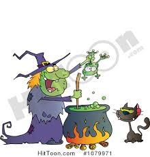 free halloween clipart witch cauldron witch clipart 1079971 cat watching an ugly halloween witch