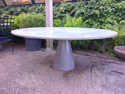 Outdoor Round Table Large Round Concrete Slice Dining Table Mecox Gardens