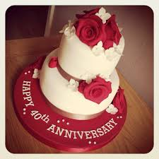 ruby wedding anniversary cake decorations idea in 2017 bella