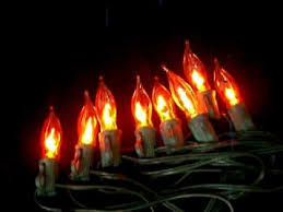 flickering flame string lights 10 c7 bulbs happy holidays