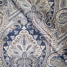 equestrian delft blue floral upholstery fabric by richloom