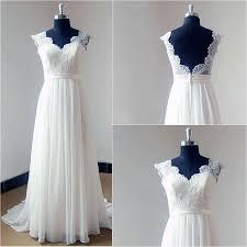 lace backless wedding dress charming v neck appliqued lace backless wedding dresses