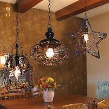 Simple Wrought Iron Chandelier Retro Simple Single Wrought Iron Chandelier You Think Of The