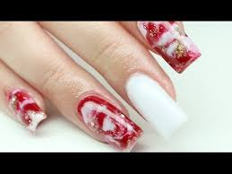 christmas marble nails youtube