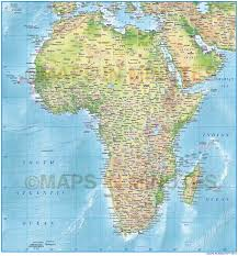 African Countries Map Digital Vector Africa Political Map 10 000 000 Scale In