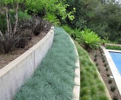 backyard retaining wall landscape contemporary with stone wall