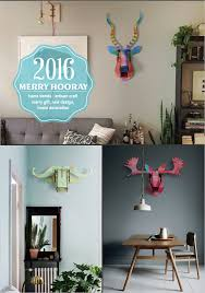 2016 new design 3d mdf goats head wood animal head christmas wall