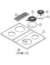Parts For Jenn Air Cooktop Parts For Jenn Air Cve1400w C Cooktop Appliancepartspros Com