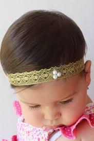 toddler headbands gold headband toddler headband baptism headband infant