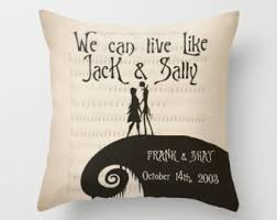 Nightmare Before Christmas Bedroom Stuff The Nightmare Before Christmas Throw Pillow Jack And Sally