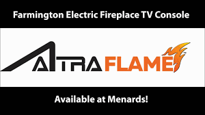 Fireplace Tv Stand Menards by Farmington Electric Fireplace Tv Console Youtube
