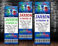 pj masks invitation corbin u0027s 4th birthday pj mask