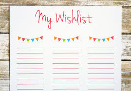 wish list printable wishlist wishlist for birthday wishlist