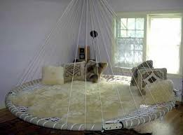 Swinging Bed Frame Swing Bed Made From Recycled Troline The Owner Builder Network