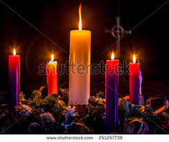 advent wreath candles advent candles glow celebration christmasadvent stock photo