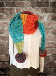 free crochet pattern rainbow road scarf darkhumorgirl productions