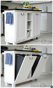 kitchen trash cans for small spaces genwitch