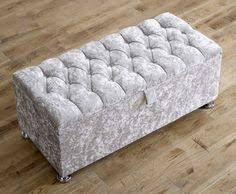 ottoman footstool chesterfield deep buttoned storage home