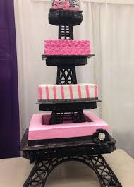 aprils cakes gallery quinceanera cake pink square eiffel tower